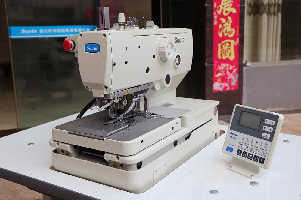 Operação da máquina de costura
